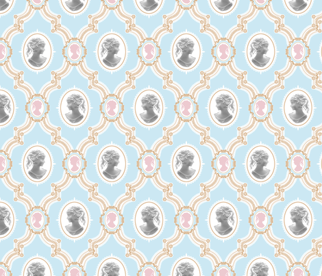 Pretty Cameo fabric by woodmouse&bobbit on Spoonflower - custom fabric