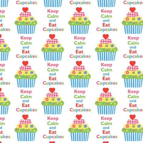 Keep Calm and Eat Cupcakes 5 fabric by andibird on Spoonflower - custom fabric