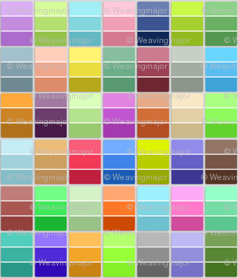 paint chips - multicolored