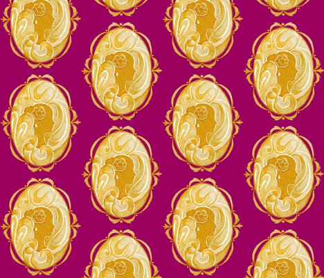 Cameo fabric by morningloridesigns on Spoonflower - custom fabric