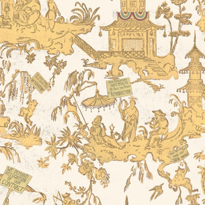 Chinoiserie Labor Protest Histories Pattern