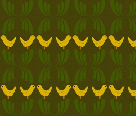 Dear my bird fabric by blingmoon on Spoonflower - custom fabric