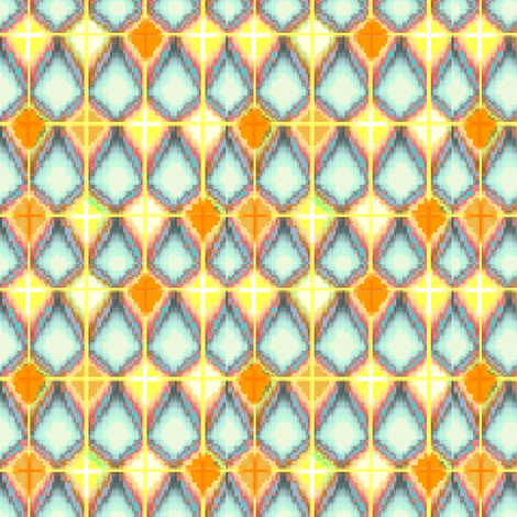 Brick_Lattice_Sun_Kite_Brick fabric by pd_frasure on Spoonflower - custom fabric