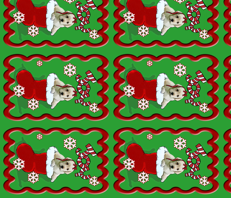 lab_puppy_Christmas_Stocking_wall_hanging fabric by dogdaze_ on Spoonflower - custom fabric