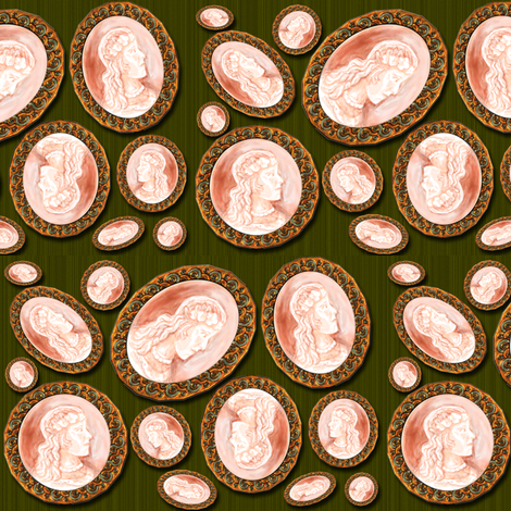 A Cameo Lady fabric by eclectic_house on Spoonflower - custom fabric