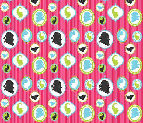 Mrs. Claus' Jewelry Box fabric by fable_design on Spoonflower - custom fabric