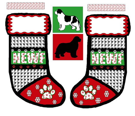 cut_and_sew_newf_Christmas_stocking fabric by dogdaze_ on Spoonflower - custom fabric