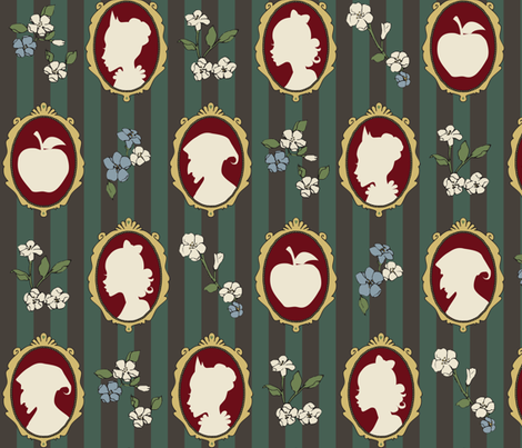Poison Silhouette fabric by shirayukin on Spoonflower - custom fabric