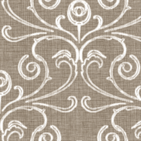 Faded French Rose - Brown fabric by kristopherk on Spoonflower - custom fabric
