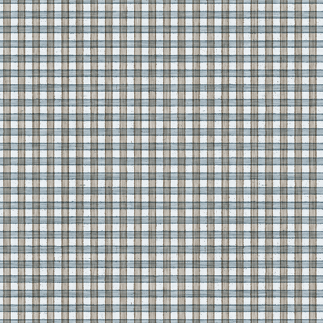 Faded French Check - blue fabric by kristopherk on Spoonflower - custom fabric