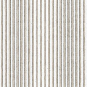 Faded French Stripe - Brown
