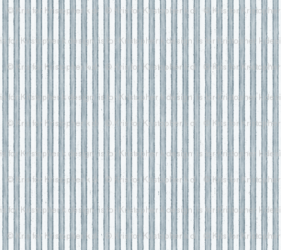 Faded French Stripe - Blue