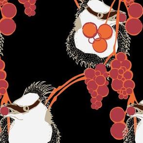 birds in the berries - orange/black