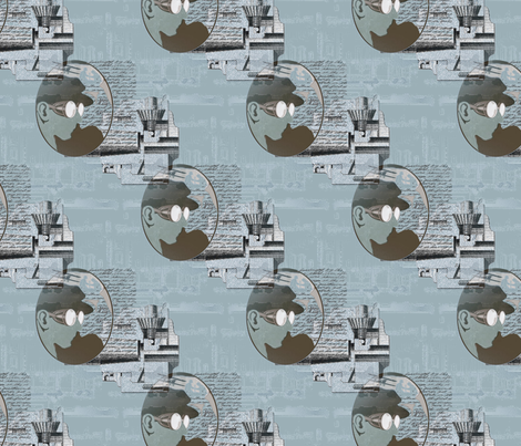Wild Blue Cameo fabric by donna_kallner on Spoonflower - custom fabric