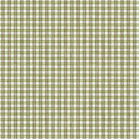 Faded French Check - Green fabric by kristopherk on Spoonflower - custom fabric
