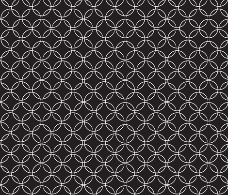 christmas_butterfly_circles_black fabric by mainsail_studio on Spoonflower - custom fabric