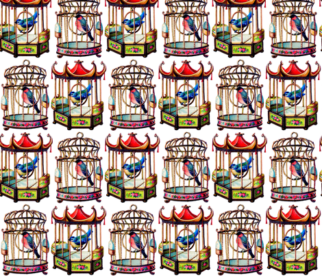 Bird Cages fabric by victoriagolden on Spoonflower - custom fabric