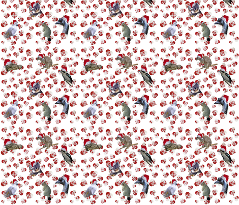Ditzy Hearts with Animals fabric by upcyclepatch on Spoonflower - custom fabric