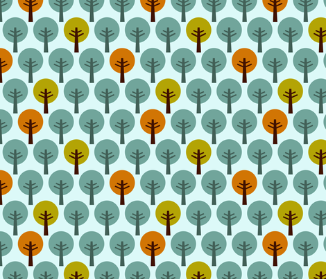 SteffFabrics Forest Blue fabric by steffstyle on Spoonflower - custom fabric