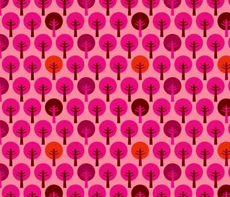 SteffFabrics Forest Pink fabric by steffstyle on Spoonflower - custom fabric
