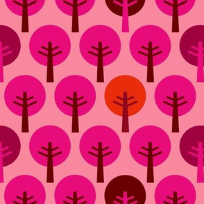 SteffFabrics Forest Pink