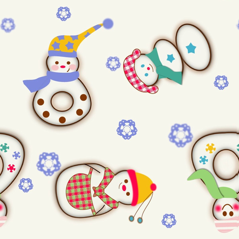 joyful snowmen fabric by kato_kato on Spoonflower - custom fabric