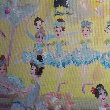 Balletic Tea time fabric by myartself on Spoonflower - custom fabric