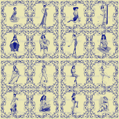 China pinup tiles