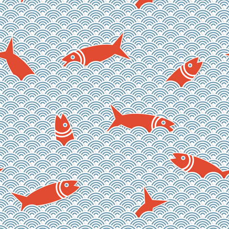 Happy Herrings fabric by yooliadesign on Spoonflower - custom fabric
