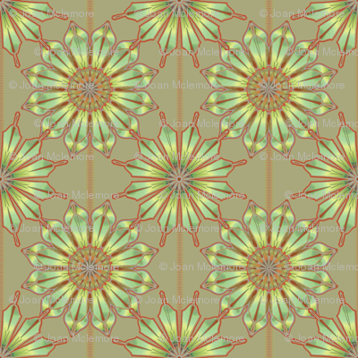 Star Flower taupe