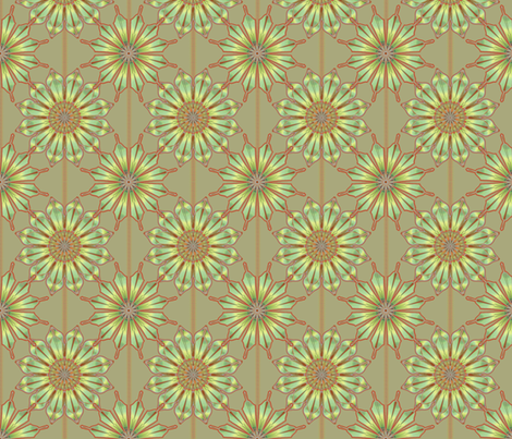 Star Flower taupe fabric by joanmclemore on Spoonflower - custom fabric
