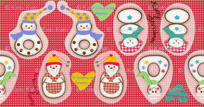 The Christmas tree Snowmen