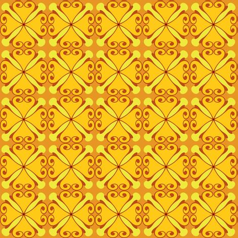 sunflower fabric by lilliblomma on Spoonflower - custom fabric