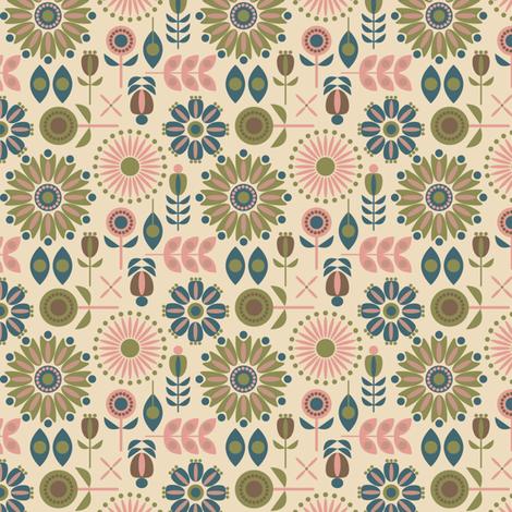 Folk Floral fabric by alisontauber on Spoonflower - custom fabric