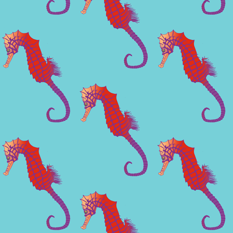 michelle_seahorse fabric by michelle_zollinger_tams on Spoonflower - custom fabric