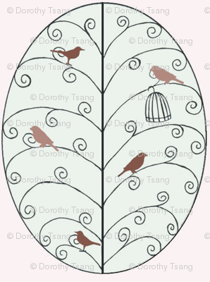 Leaf Tree & Birds