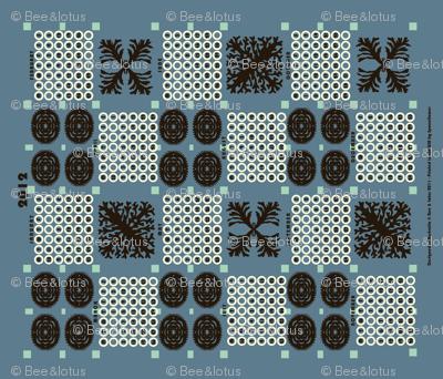 welsh blanket_2012 tea towel calendar deep_sea
