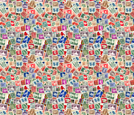 Stamps - Canada fabric by koalalady on Spoonflower - custom fabric