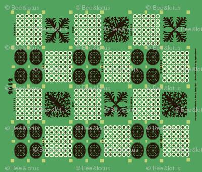welsh blanket_2012 tea towel calendar_kelp