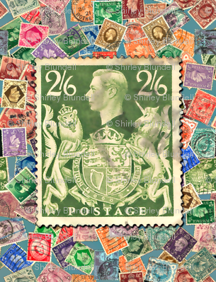 Stamp- Great Britain with George6 stamprge6