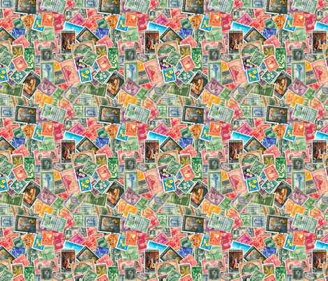 Stamps - New Zealand fabric by koalalady on Spoonflower - custom fabric