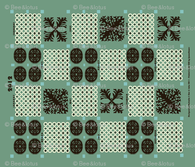 welsh blanket_2012 tea towel calendar_rockpool