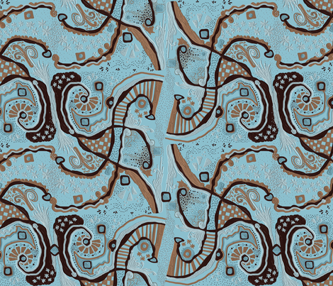 Crowded land 2a LARGE on powder blue - Zoom for texture fabric by su_g on Spoonflower - custom fabric