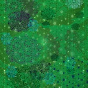 Quasicrystal - bright green