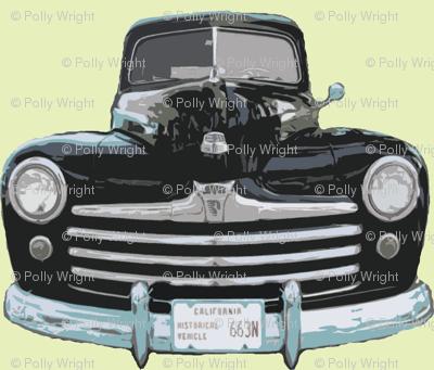 1947 black n blue woodie