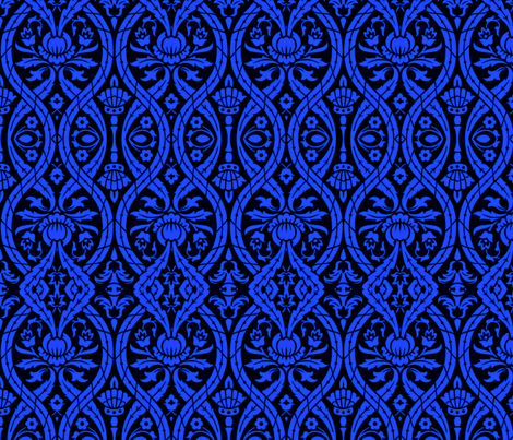 Pomp and Circumstance in Blue fabric by whimzwhirled on Spoonflower - custom fabric