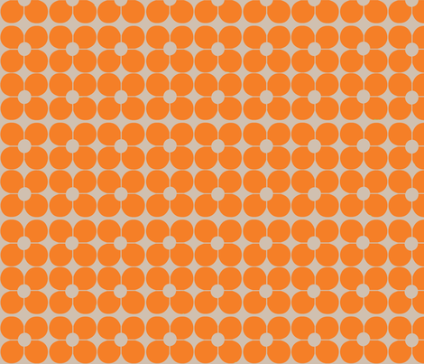 Mod Flor Naranja fabric by katrina_griffis on Spoonflower - custom fabric