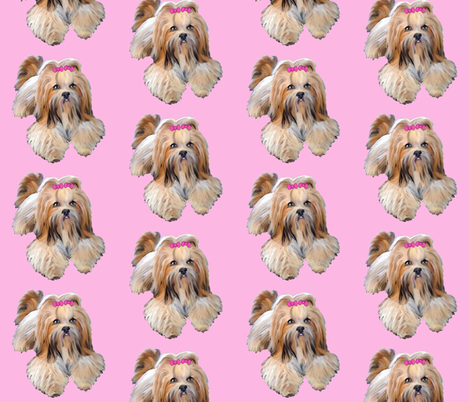 Lhasa_Apso fabric by dogdaze_ on Spoonflower - custom fabric