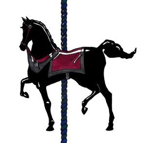 Original Black Carousel Pony