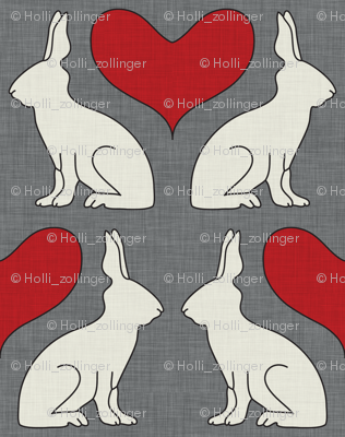 rabbit silhouettes simple